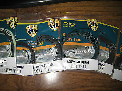 Rio Skagit Medium Mow Tips 6 Options for 475-575 Grain Fly Lines