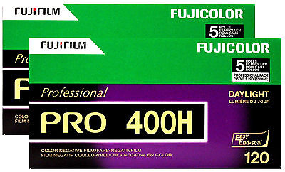 10 Roll Fuji Pro 400H 120 Color Negative Film Daylight 400 FUJIFILM Exp 2/2021
