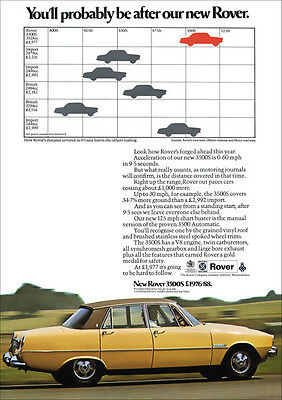ROVER P6 3500S V8 RETRO A3 POSTER PRINT FROM CLASSIC 70's ADVERT