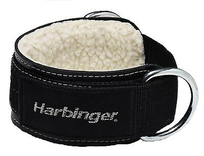 """Harbinger 3"""" Heavy Duty Ankle Cuff Strap D Ring Cable Attachment Weight Lifting"""