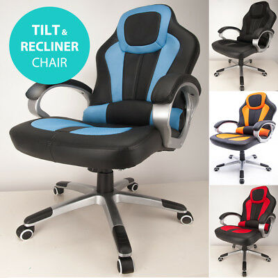 RayGar Deluxe Racing Car Sport Seat Gaming Chair Reclining Desk Office Chair