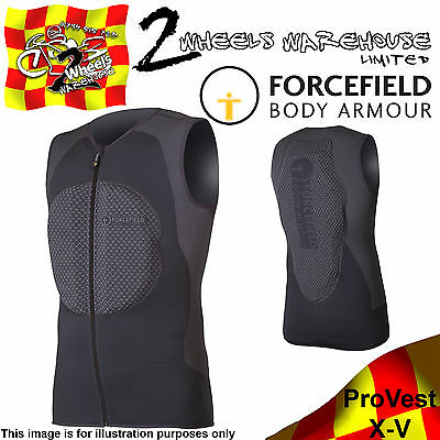Forcefield Pro Vest X-V Upper Body Armour With Spine Back Chest Sport Protector