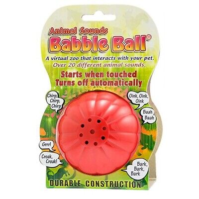 Dog Toy Interactive Babble Ball Animal Sounds Large