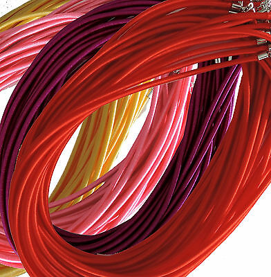 Rockin Beads 19 pack 4mm Satin Cord Necklaces 19 inch Lobster Claw Clasp U-Pick