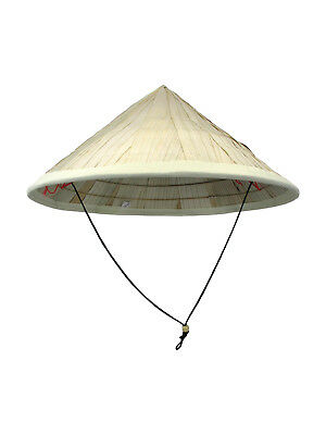 Coolie Hat Asian Conical Japanese Large Straw Bamboo Sun Rice Farmer Costume
