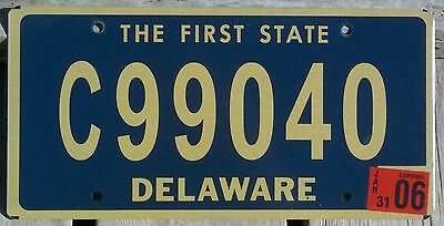 Delaware 2006 COMMERCIAL TRUCK license plate - natural sticker - very nice!