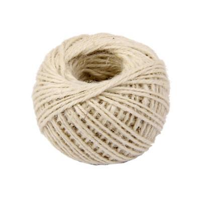 50M Jute Hessian Twine Sisal Rustic String Cord Vase Gift Chic Decors White