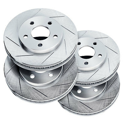 Brake Rotors [2 Front + 2 Rear] POWERSPORT *SLOTTED ONLY* DISC BM11536