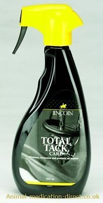 LINCOLN TOTAL TACK CARE (500ML) horse pony spray cleaner protects dirt 3785