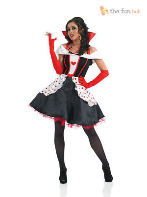 Ladies Queen of Hearts Costume Fairytale Longer Length Fancy Dress Book Week Day