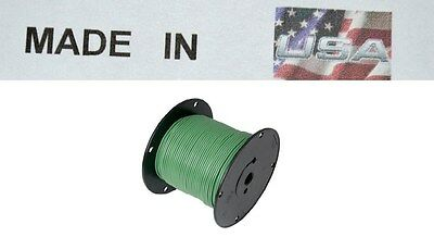 Trailer Light Cable Wiring Harness 16 Gauge 100' Wire Roll Green MADE IN USA