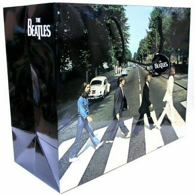 33cm LARGE BEATLES ABBEY ROAD GIFT BAG PRESENT WRAPPING PAPER LENNON LP PARTY