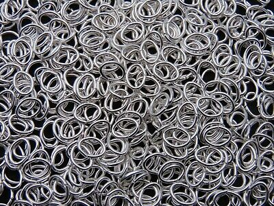 Silver Plated 7mm Oval Jump Rings Findings Craft Jewellery Beading ML