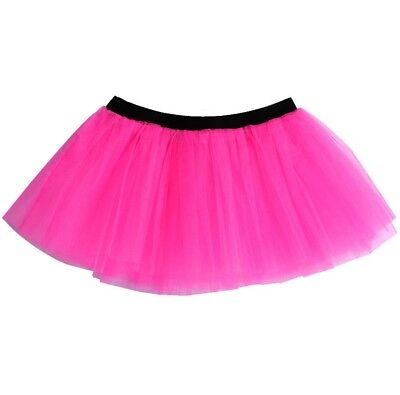 86cd4ef0ac Ladies Neon Pink Tutu Skirt 3 Layer Hen Party Accessory Fun Run Fancy Dress
