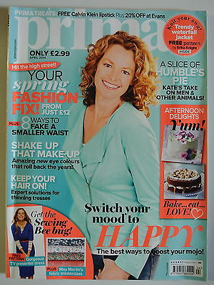 Prima Magazine April 2014. Get the Sewing Bee bug! Mary Martin's masterclass.