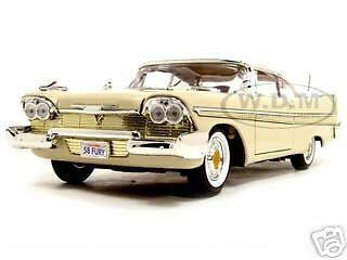 1958 Plymouth Fury Beige 1:18 Diecast Model Car By Motormax 73115