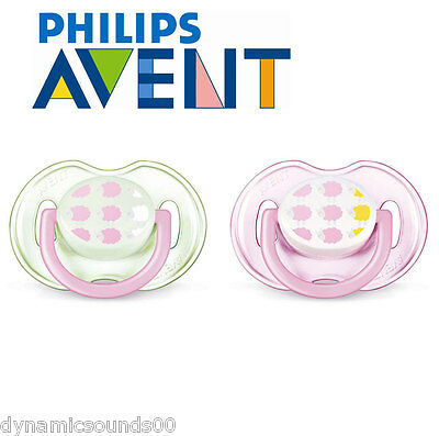 Philips AVENT SCF172/18 Orthodontic Classic Baby Soothers Pink 0-6 Month 2-Pcs