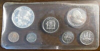 1972 Jamaica Silver Proof Set - 7 Coins