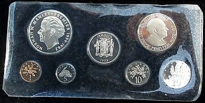 1973 Jamaica Silver Proof Set - 7 Coins