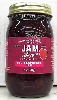 The Jam Shoppe All Natural Recipe Red Raspberry Jam 19 oz