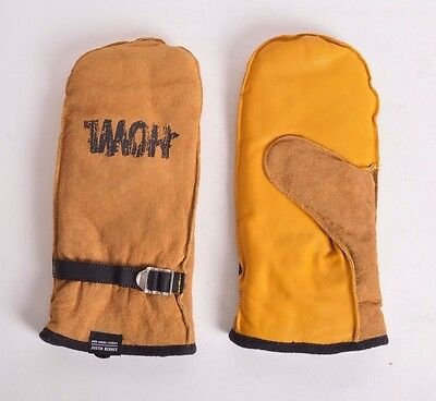 2016 NWT MENS HOWL JUSTIN BENNEE PRO MODEL SERIES MITTENS $65 old yellow gloves