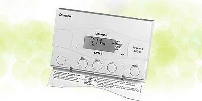 Drayton 25478 LP711 1-Channel Timeswitch with Holiday Mode Function | White