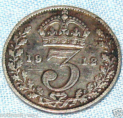1912 Sterling Silver Threepence Coin TITANIC Ship Cruise Liner Boat London NYC