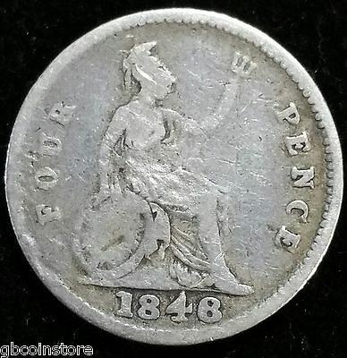 1848/6 8 Over 6 Victoria Silver Groat Clear Detail Spink 3913