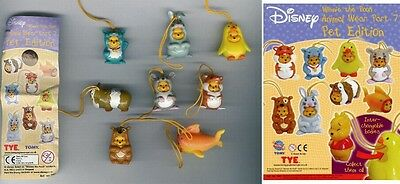 RARO Set 8 Figure WINNIE POOH Animal Wear PET EDITION Serie Mini Winnies RARE
