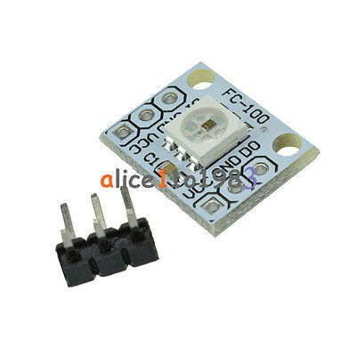 10PCS WS 2812 2811 5050 RGB LED Lamp Panel Module Rainbow 1-Bit 5V for Arduino