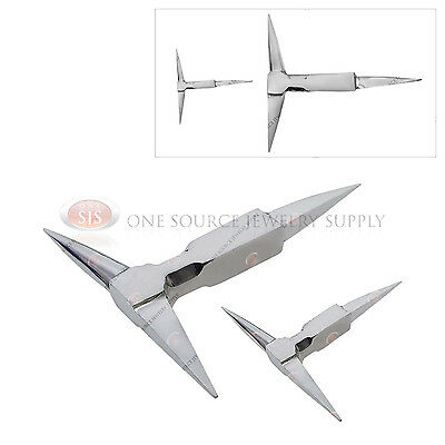 2 Metalworking T-Shaped Anvils Shaping Forming Flattening Steel Tool Jewelry Set
