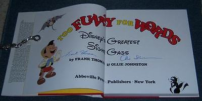 "Rare Disney Author Autographed""too Funny  For Words""bk."