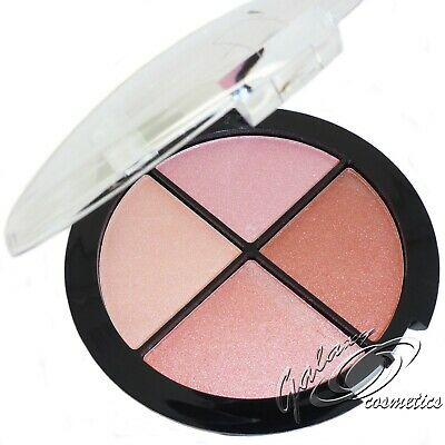 Technic MEGA BLUSH Compact Quad Blusher Palette Natural Pink Shimmer Colours
