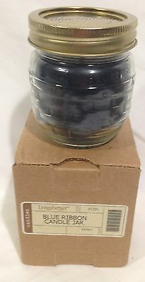 Longaberger Blue Ribbon Candle Jar in Berry Scent