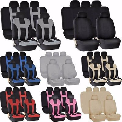 UAA Universal Premium Polyester SUV Double Stitched Seat Split Bench Cover Set