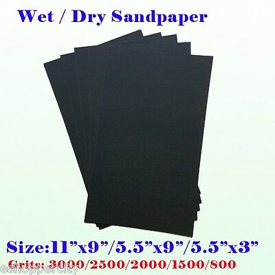 Wet/Dry Sanding Paper Sheet Silicon Carbide Waterproof Sandpaper 5.5x9 11x9 grit