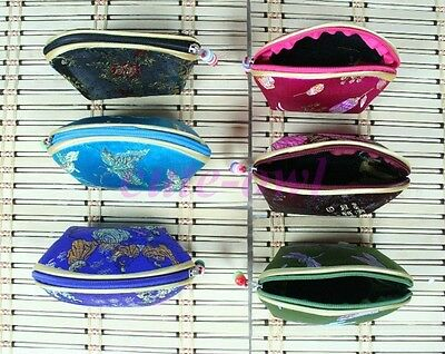 Lots 10PCS Mix Colors Chinese Handmade Silk Jewelry Ring Box Bag Coin Bag Purse