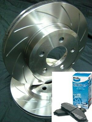 SLOTTED VMAX PAIR with BENDIX PADS Ford BA BF FG Front Disc Brake Rotors NEW