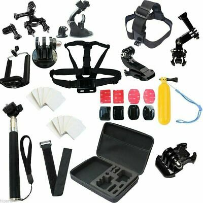 Head Chest Mount Case Bundle For GoPro 1 2 3 4 Cameras Accessories Kit Combo Set