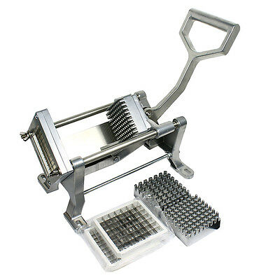 French Fry Potato Cutter Fruits Vegetables Commercial Quality Slicer Three Blade