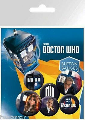 Dr WHo blister badges officiels Doctor WHO official button badges