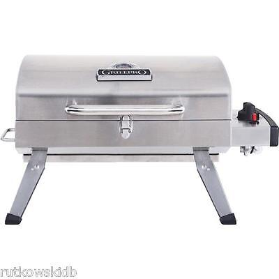 10,000-BTU GrillPro Table Top Stainless Steel Propane Gas Grill