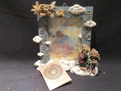 Wings to Soar Picture Frame 1997 Boyds Bears #27300 with Box & COA January/3430