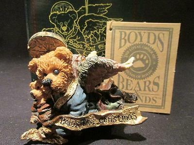 Matthew with Kip Baby's First Christmas Ornament Boyds Bears with Box & COA 2508