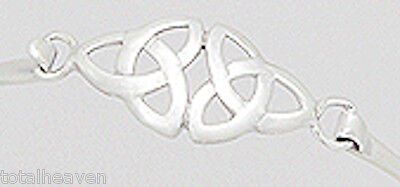 Celtic Style 6.4g Solid Sterling Silver Cuff Bangle Bracelet 55x50x12mm