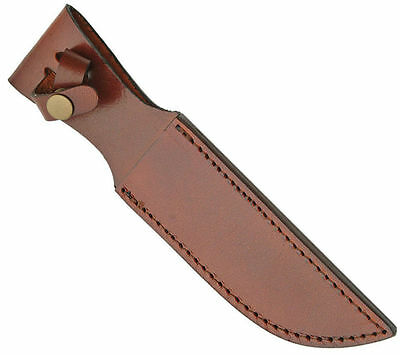 """Leather Belt Sheath To Fit 6"""" Blade Fixed Blade Hunting Knives, Sh1162"""