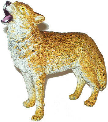 AAA 53111 Brown Wolf Howling Wild Animal Toy Model Figurine Replica - NIP