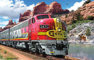 Jigsaw puzzle Train Sante Fe Super Chief 1000 piece NEW Made in the USA
