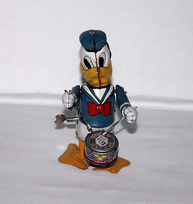 "WALKING VERS.""DISNEY1950's""DONALD DUCK THE DRUMMER""TIN LINEMAR WIND-UP TOY-WORKS"