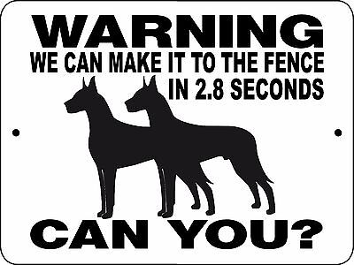 "GREAT DANE Dog Sign,9""x12"" Aluminum Sign,Guard Dog,Gate Sign,Fence,H2827GDX2"